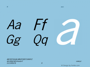 News-Gothic Italic Converted from D:\FONTTEMP\NEWS-GO1.TF1 by ALLTYPE Font Sample