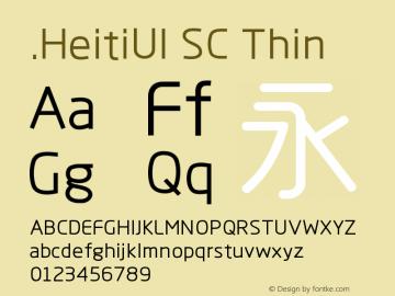 .HeitiUI SC Thin 9.0d8e1 Font Sample
