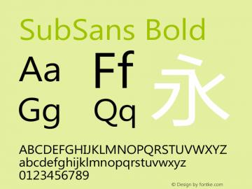 SubSans Bold 20140805 Font Sample