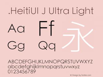.HeitiUI J Ultra Light 9.0d9e3图片样张