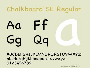Chalkboard SE Regular 10.0d1e1 Font Sample