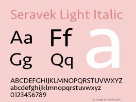 Seravek Light Italic 9.0d3e1图片样张