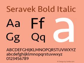 Seravek Bold Italic 9.0d3e1图片样张