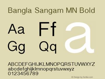 Bangla Sangam MN Bold 10.0d7e3 Font Sample