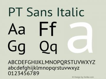 PT Sans Italic 10.0d1e1 Font Sample