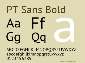 PT Sans Bold 10.0d1e1 Font Sample