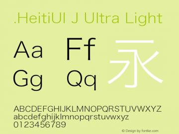 .HeitiUI J Ultra Light 9.0d9e4图片样张