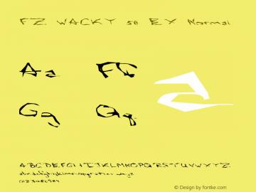 FZ WACKY 58 EX Normal 1.0 Mon Feb 07 19:12:00 1994 Font Sample