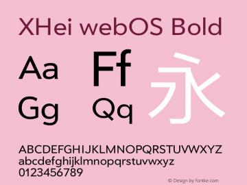 XHei webOS Bold XHei webOS - Version 6.0 Font Sample