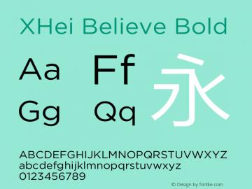 XHei Believe Bold XHei Believe - Version 6.0 Font Sample