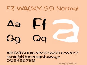 FZ WACKY 59 Normal 1.000 Font Sample