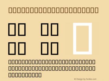 PSL PattriyaAD Italic Series 3, Version 1, release February 2001. Font Sample