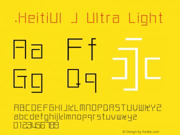 .HeitiUI J Ultra Light 10.0d4e2图片样张
