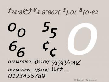 TheMixSemiLight Roman Italic 001.100 Font Sample