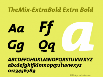 TheMix-ExtraBold Extra Bold Version 1.00 Font Sample