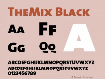 TheMix Black Version 1.0 Font Sample