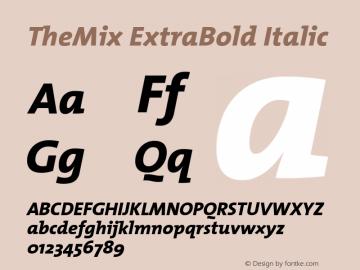 TheMix ExtraBold Italic Version 1.0 Font Sample