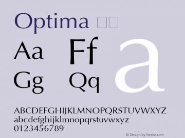 Optima 斜体 6.1d4e2 Font Sample