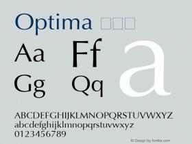 Optima 粗斜体 6.1d4e2 Font Sample