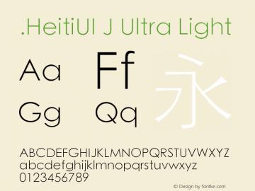 .HeitiUI J Ultra Light 10.0d5e1图片样张