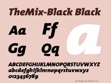 TheMix-Black Black Version 1.00 Font Sample