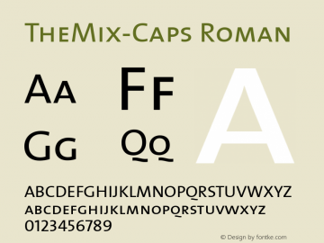 TheMix-Caps Roman Version 1.00 Font Sample