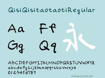 QisiQisitaotaoti Regular Version 1.00图片样张