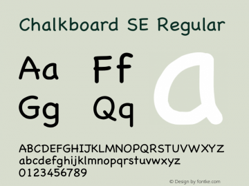 Chalkboard SE Regular 8.0d2e1 Font Sample