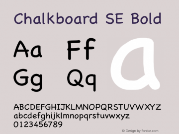 Chalkboard SE Bold 8.0d2e1 Font Sample