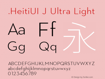 .HeitiUI J Ultra Light 10.0d6e1图片样张