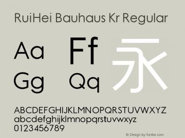 RuiHei Bauhaus Kr Regular Unknown图片样张