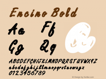 Encino Bold Altsys Fontographer 4.1 12/20/94 Font Sample