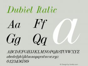 Dubiel Italic 001.001图片样张