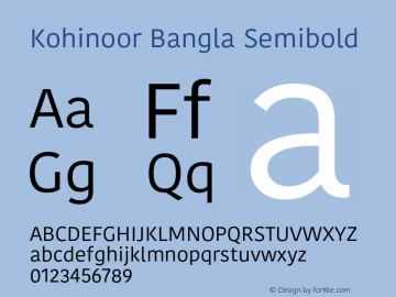 Kohinoor Bangla Semibold 10.0d3e2 Font Sample