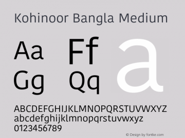 Kohinoor Bangla Medium 10.0d3e2 Font Sample