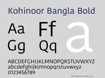 Kohinoor Bangla Bold 10.0d3e2 Font Sample