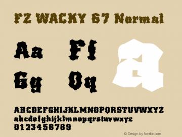 FZ WACKY 67 Normal 1.000 Font Sample