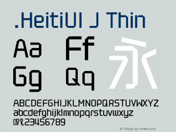 .HeitiUI J Thin 10.0d4e2图片样张