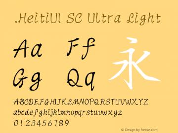 .HeitiUI SC Ultra Light 10.0d4e2图片样张