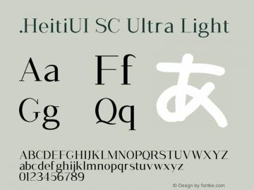 .HeitiUI SC Ultra Light 10.0d4e2 Font Sample