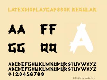 LatexDisplayCapsSSK Regular Macromedia Fontographer 4.1 8/4/95图片样张