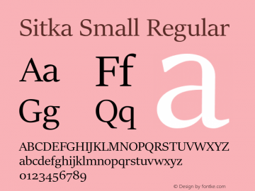 sitka small normal font free download