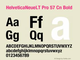 HelveticaNeueLT Pro 57 Cn Bold Version 1.000;PS 001.000;Core 1.0.38 Font Sample