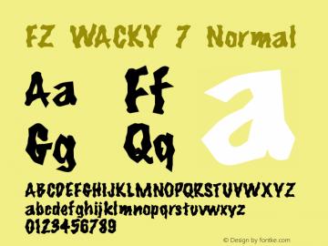 FZ WACKY 7 Normal 1.000 Font Sample
