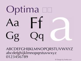 Optima 斜体 6.1d4e1 Font Sample
