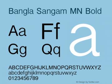 Bangla Sangam MN Bold 7.0d2e1 Font Sample