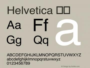 Helvetica 粗体 8.0d6e1 Font Sample