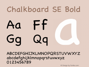 Chalkboard SE Bold 7.0d13e1 Font Sample