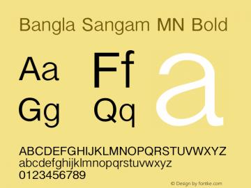 Bangla Sangam MN Bold 7.0d3e1 Font Sample