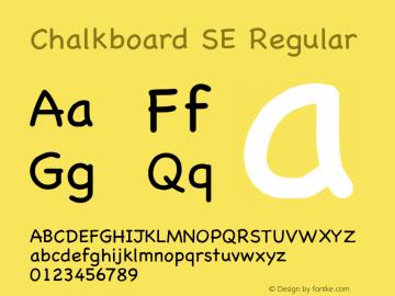 Chalkboard SE Regular 7.0d13e1 Font Sample